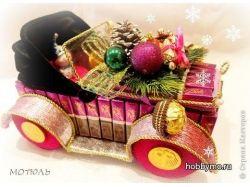 Ретро автомобиль из конфет