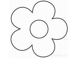 Шаблон цветка