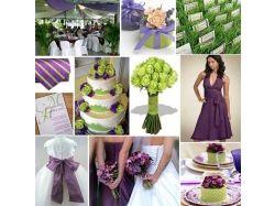Сочетание цветов на свадьбе
