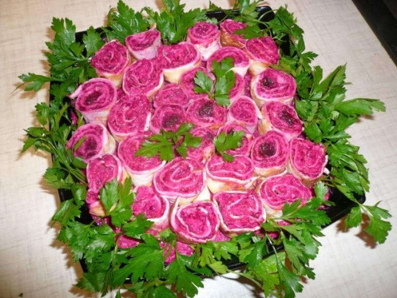 Салат цветок рецепт фото