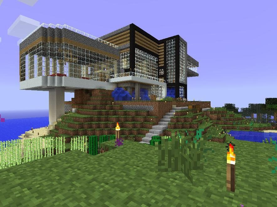 Игры майнкрафт как сделать дом красивый 122