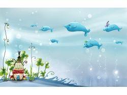 Подводный мир рисунок
