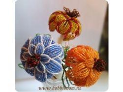 Схемы цветы из бисера