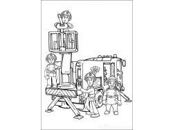 Раскраска про пожарную безопасность