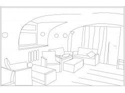 Рисунок интерьера комнаты
