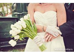 Короткие свадебные перчатки фото
