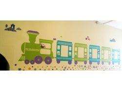 Оформление стен детского сада