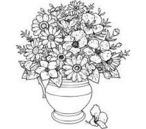 Рисунки цветы в вазе