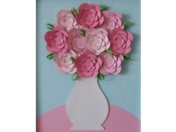 Цветы из бумаги картины