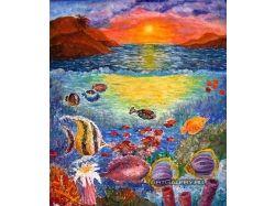 Картина подводный мир