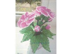 Цветы из бисера фото и схемы