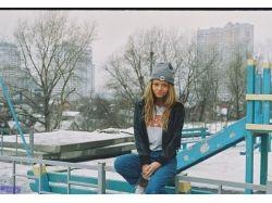 Фото девушка зима