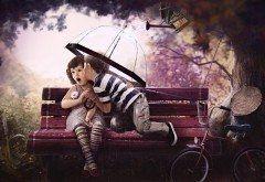 Картинки детки целуются