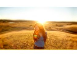 Фотографии девушек на природе