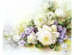 Цветы картинки для декупажа