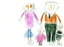Семья рисунок карандашом