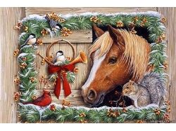 Новогодние лошади картинки