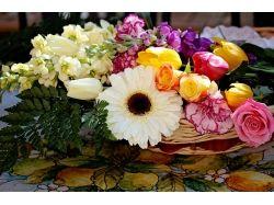 Цветы розы гвоздики