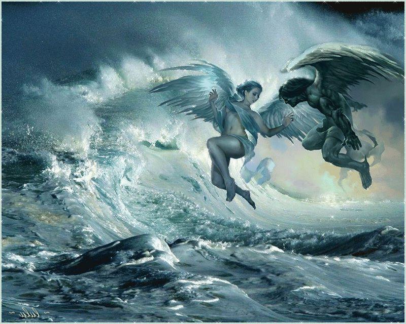 Рождение дочери, гифки ангелы и демоны