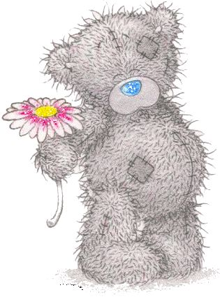 Картинка тедди с цветком