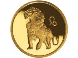 Монета с изображением льва
