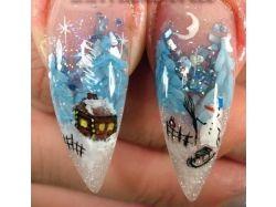 Новогодние рисунки на ногтях в картинках