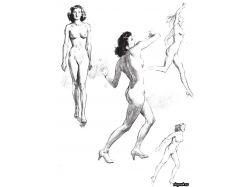 Рисунки движения человека