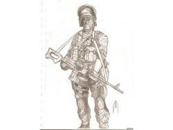 Солдат рисунок карандашом