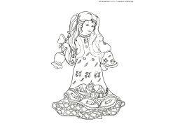 Платье раскраска для детей