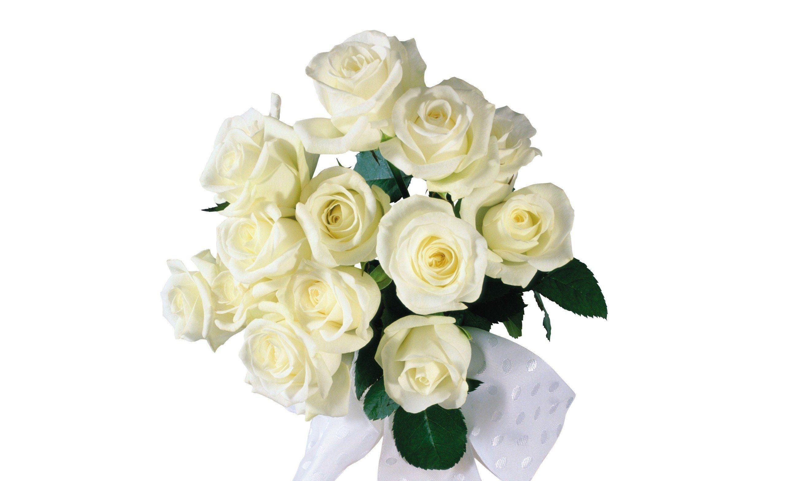 Картинка анимация букет белых роз