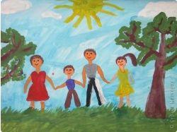 Рисунки на тему моя деревня