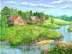 Картинки сказочные домики 7