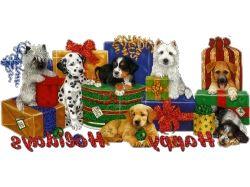 С днем рождения открытки с собаками 6