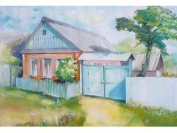Рисунки деревни 7