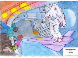 Новогодние рисунки цветными карандашами 1