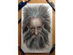 Новогодние рисунки цветными карандашами 3