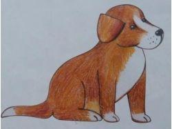 Новогодние рисунки цветными карандашами 7