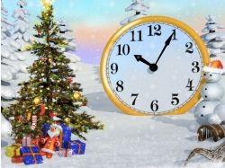 Картинки новогодние часы 6