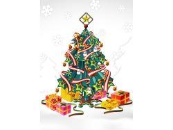 Рисунок елка новогодняя 1