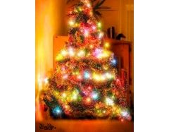 Рисунок елка новогодняя 3