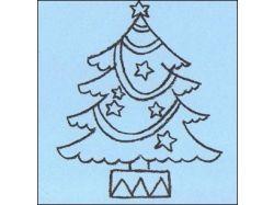 Рисунок елка новогодняя 4