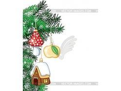 Рисунок елка новогодняя 6