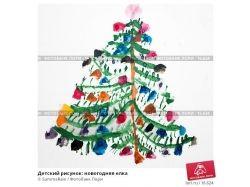 Рисунок елка новогодняя 7