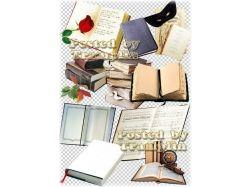 Книги на прозрачном фоне 3