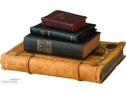 Книги на прозрачном фоне 4