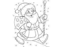 Новогодние рисунки черно белые 5