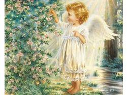 Новогодние ангелочки картинки 4