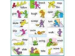 Английские глаголы в картинках 3
