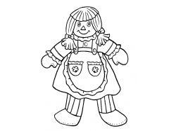 Картинки раскраски куклы 2