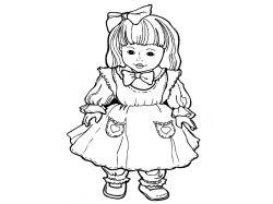 Картинки раскраски куклы 3